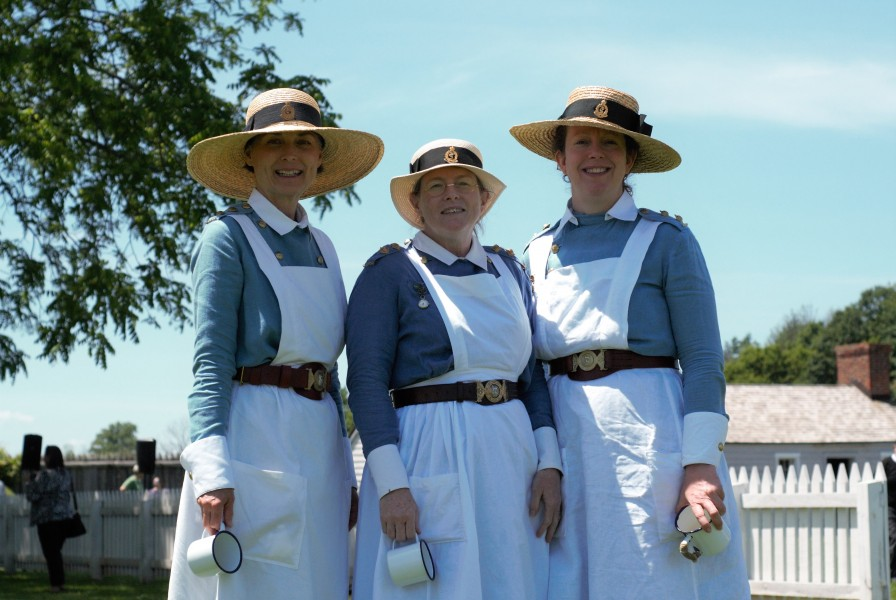 Renactors of the Canadian Army Medical Care WW1 Nursing Sisters. (Brittany Carter/Niagara Now)
