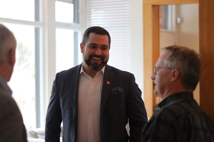 CN's manager of public affairs Daniel Salvatore was one of the major donors recognized by the committee and the Town at a cocktail party on Jan. 8. (Dariya Baiguzhiyeva/Niagara Now)