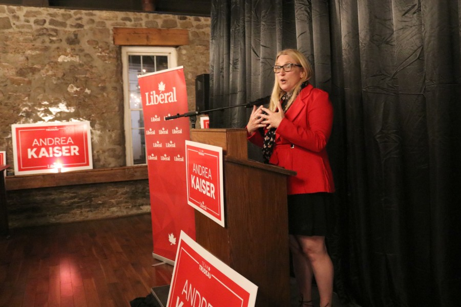 Liberal candidate Andrea Kaiser, who finished second to Conservative Tony Baldinelli, said despite her loss, she's thrilled Canada has re-elected a Liberal government for the next four years. (Dariya Baiguzhiyeva/Niagara Now)