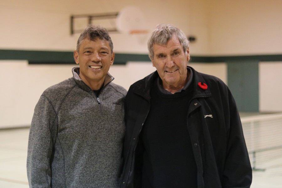 Club members Ron Gayadeen and John Orton at the open house held last Sunday. (Dariya Baiguzhiyeva/Niagara Now)