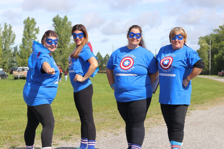 Captain Americana Team: Melissa Lecompte, Erin Brown, Dawn Fisher and Lynda Thomson. (Dariya Baiguzhiyeva/Niagara Now)