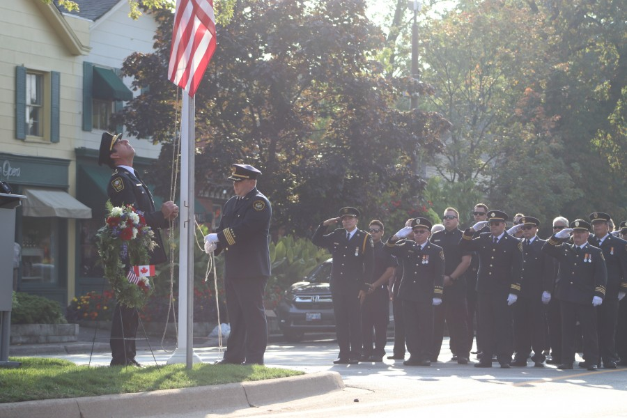 Memorial service held in NOTL honour of Sept. 11 attacks. (Dariya Baiguzhiyeva/Niagara Now)