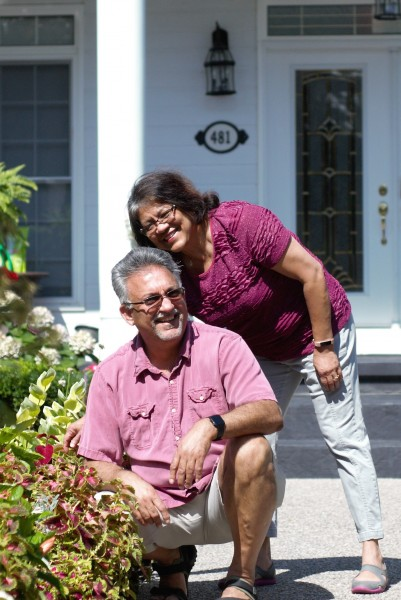 Sonny and Judy D'Mello are the Garden of the Week 12 winners for their B&B property at 481 Gate St. (Brittany Carter/Niagara Now)