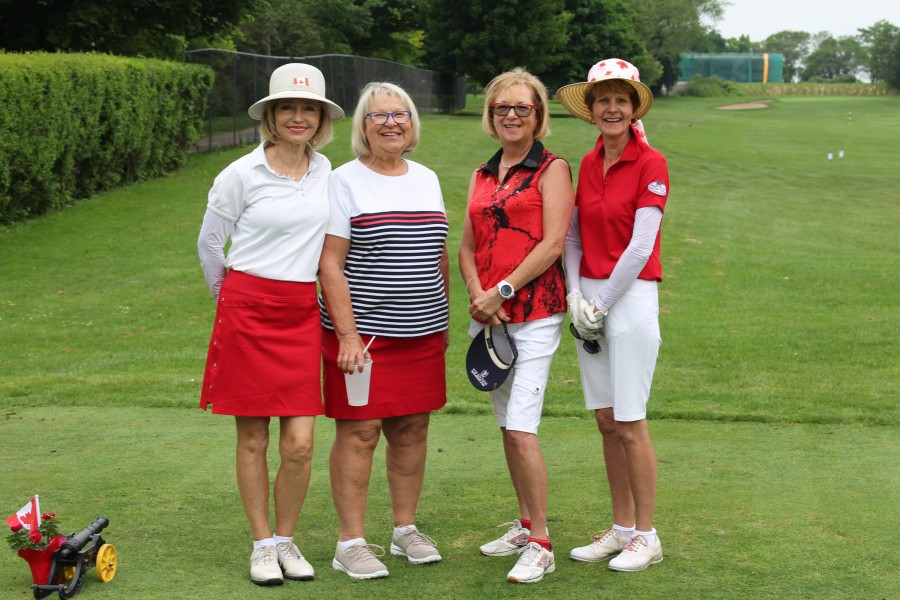 The nine and 18-hole women's leagues held their annual mid-season scramble and picnic lunch on July 2. Second place in the scramble went to Michele Darling, Karen Burr, Deborah Williams and Charlotte Kainola. (Supplied photo)