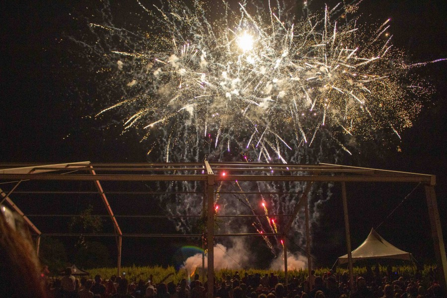 Fireworks at Ravine Vineyard Estate Winery on Canada Day. (Richard Harley/Niagara Now)
