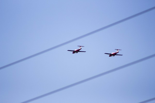 Snowbirds in Niagara-on-the-Lake during a show at the Niagara District Airport, Sept. 20, 2017.